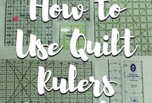 how to use quilt rulers