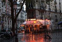 café y lluvia