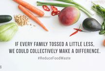 #ReduceFoodWaste / Tips and resources on how to waste less food and help the earth
