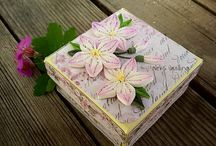 cutii din lemn si quilling