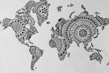 Tattoo world map