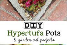 DIY Hypertufa pots