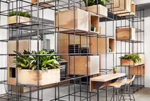 Metal Shelving system as room divider
