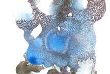 Maud Boulet my-drawing/dessin contemporain / Quelques exemples de mon travail. Dessin de textures, organique/végétale.