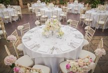 WEDDING | Tablescapes / Beautiful wedding tables, long, round, sweetheart...