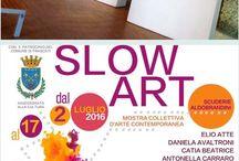 """Exposition.   Slow Art   Rome. / Exposition à Rome """" Slow Art """"   Du 2 au 17 juillet 2016   https://www.facebook.com/toiles.jeaninelucci/"""