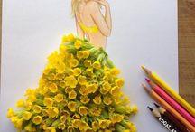 Девушки - цветы