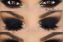 bold black eyes