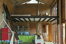 the cabin interior