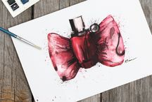 Fragrance Watercolors Illustrations / Fragrance Watercolors Illustrations created by Victoria L. Brown