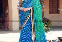 Buy online Bandhani sarees