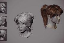 Волосы, Прическа в Blender 3D