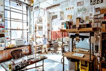 Studio. / Dreamy workspaces and organizational inspiration.