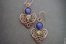 ~{wirewrapped earrings}~