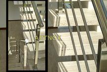 """CORRIMÃO INOX 3 TUBINHOS MESCLADO DESCRIÇÃO DO PROJETO / Corrimãos em tubos redondos de aço Inox 304 escovado ou polido, sendo Tubo Superior Redondo de 2"""", Colunas Quadradas de 40×40 e 3 Tubinhos Redondos 5/8"""".  FALE  AGORA COM O SERGIO  Whatsapp: (19) 9.8363.4489  Celular: (19) 78273367 ID: 14*1003369  E-mail: corrimaoinox@hotmail.com  Site: corrimaoinox.wordpress.com"""