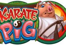 Karate Pig / Una delle video slot più avvincenti del Casinò Online Voglia di Vincere è indubbiamente Karate Pig: alla simpatia del maialino protagonista, maestro di arti marziali, si affiancano 15 giocate gratuite e diverse partite bonus con diverse sfide. Prova ad attivarle tutte e a vincere il favoloso jackpot di 800.000 monete!