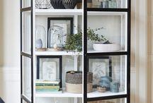 Glass cabinet decor