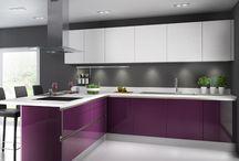 kuchnia z fioletem