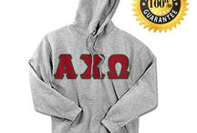 Sorority and Fraternity Standard Colors T-Shirts and Sweatshirts / Sorority and Fraternity Standard Color Lettered T-Shirts and Sweatshirts come in sport grey and white with your organizations standard colors on the letters. Find more on our website at: http://www.somethinggreek.com/ !