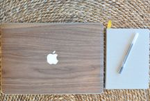 Wooden MacBook Covers / Customize your laptop with our unique hand crafted wooden covers. Each cover is individually crafted for that perfect fit on your Macbook, and specialized with the carved Apple logo. Handmade for you.