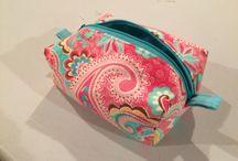 Boxy Bags / Versatile bags: cosmetic bag, men's toiletry bag, diaper clutch, kids travel toy bag, craft project bag, etc.