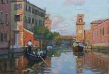 Chui Wang / A master of impressionist oil paintings. His artwork is a compilation of beautiful scenes of China and Venice, still life, portrait, etc. Chui Wang's work is renowned internationally and it has been exhibited in many museums and galleries thought Canada, United States, France and Monaco.