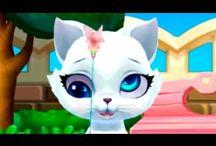 Милая кошечка Китти Мой виртуальный кот Мультфильм для девочек и мальчиков Мультики игры для детей