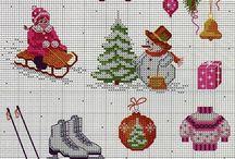 vyšívka vánoce