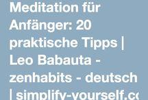 Meditation, Chakren und Achtsamkeit / Alles über Meditation, meditieren lernen und Achtsamkeit. Chakren und Energiefelder.