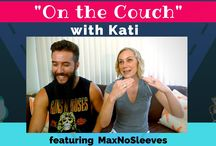On the couch with Kati!