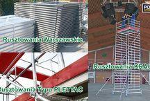 RUSZTOWANIA / Rusztowania typu PLETTAC, rusztowania warszawskie, rusztowania przejezdne aluminiowe KRAUSE ProTec ClimTec RollTec STABILO