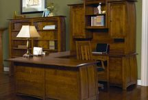Solid Wood Office Furnture / Office furniture can be built with oak, cherry, quarter-sawn white oak or maple. Choose from a large selection of corner desks, computer desks, student desks, executive desks, roll top desks, bookcases, file cabinets and desk chairs.