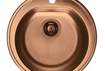 Alveus Copper Sinks & Taps / Stainless steel kitchen sinks and brass taps in non-fading copper finish. Retain the original colour unlike the stuff made from copper itself. Very sturdy finish.