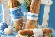 Sándwich en pan baguette