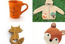 Liška, ježek, sova, veverka