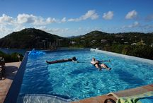 St John USVI villa for families / Rated the #1 villa on St John by Trip Advisor. Great Expectations has become a popular choice for families vacationing together. With its 4 Master bedrooms and 3 Guest bedrooms, 3 pools (including both a wading pool for little ones and an infinity pool for the adults, hot tubs, basketball & tennis court, there is plenty of space for all.