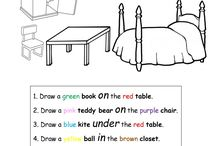Furniture and Preposition Worksheet