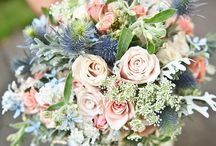 Thistle blue and Blush pink
