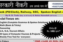 Get yourself prepared 4 Govt Job / Have a nice day!Get yourself prepared 4 Govt Job @Rs. 100/-pm*. Bank(PO/Clerk), SSC, Railway, English, Computer Courses etc. @Study Palace