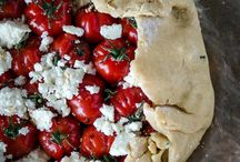 Wholemeal tomato, basil pesto, ricotta, galette / Healthy lunch