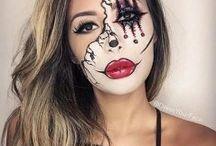 half face make up halloween