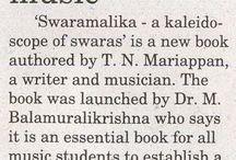 Book for students of music / 'Swaramalika - a kaleidoscope of swaras' in Mylapre Times