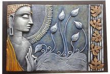 A ART RELIEF WORK PAINTING