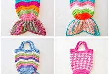 Knit fish bag