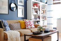 Blue Themed Living Rooms