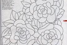 Розы в вышивке 2
