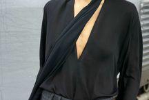 Skinny black scarf