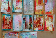 Mixed media backgrounds