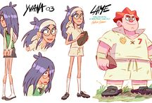 Character Design / Estudo de personagens