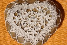 Lace work on rock